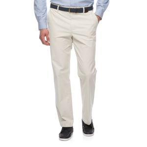 Big & Tall Croft & Barrow® Classic-Fit Easy-Care Stretch Flat-Front Khaki Pants